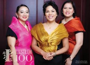 L-R: Consul Maria Roseny Fangco, Vice Consul Rowena Daquipil, Outgoing Ambassador Grace Relucio-Princesa - Philippine Embassy Abu - Photo by Eros Goze