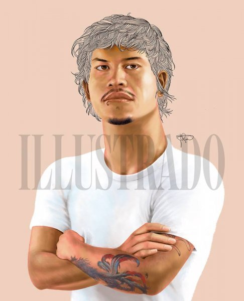 Baste Duterte caricature by Edipolo 'Edan' Aggarao for Illustrado Magazine